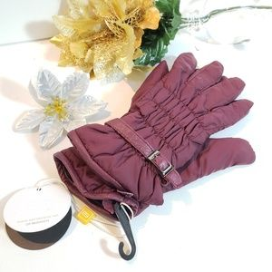 NWT, Anthro STCN Madrid Maroon Fleece Gloves